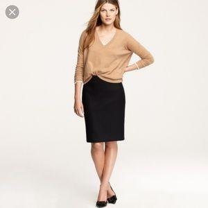 J.Crew structured wool pencil skirt